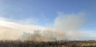 Campo incendiado